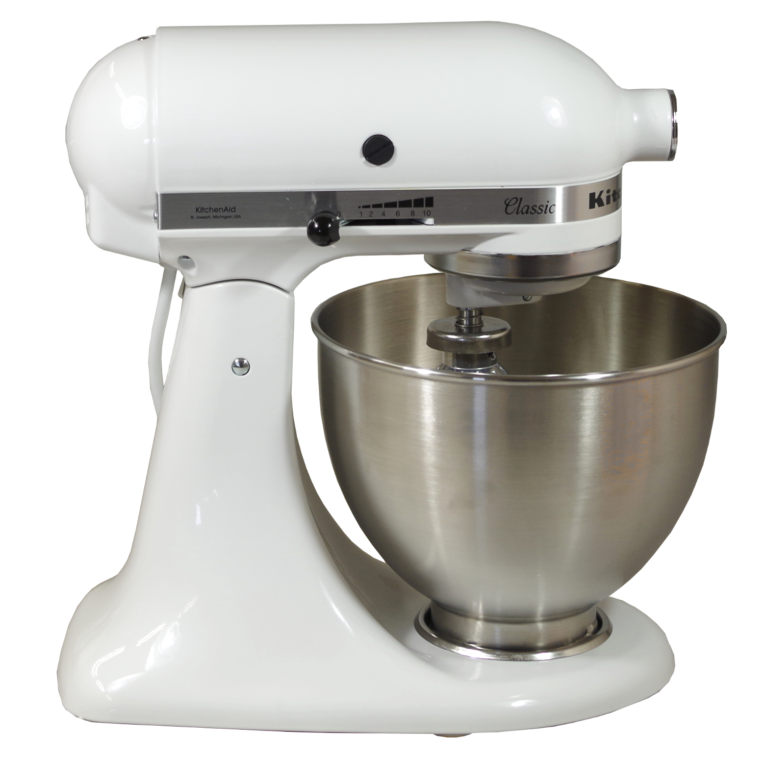 kitchenaid k chenmaschine 5k45ssewh4 standmixer 250w 10 stufen wei b ware ebay. Black Bedroom Furniture Sets. Home Design Ideas