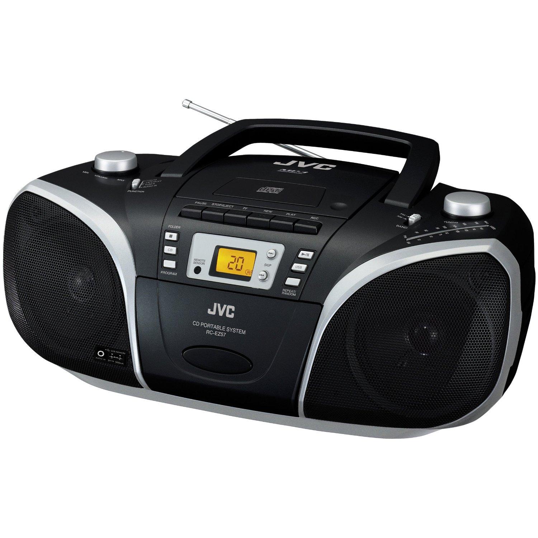 JVC CD-Player RC-EZ57 schwarz tragbar Kassette ...