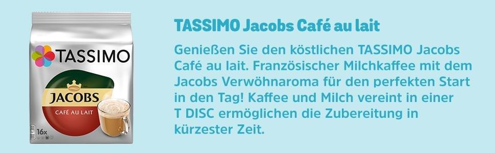 tassimo jacobs caf au lait classico 5er pack t discs kapseln 5 x 16 getr nke ebay. Black Bedroom Furniture Sets. Home Design Ideas