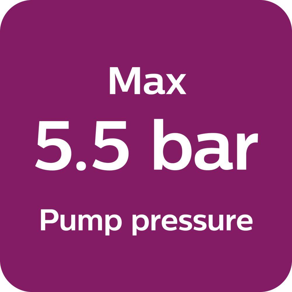Max. 5,5Bar Pumpendruck
