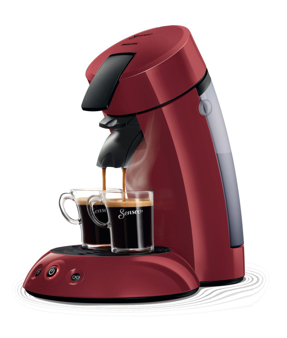 philips original senseo hd7805 40 kaffeepadmaschine 1450 watt rot ebay. Black Bedroom Furniture Sets. Home Design Ideas